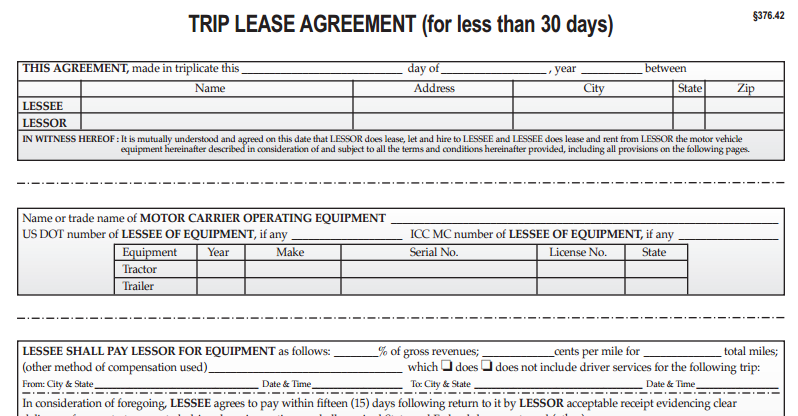 Trip Lease Agreements No 1241d Download Not Downloadable To