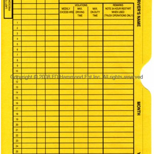 Envelopes for Log Sheets -1151