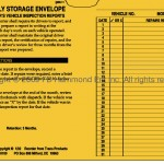 Monthly Storage Envelope for Inspection Reports