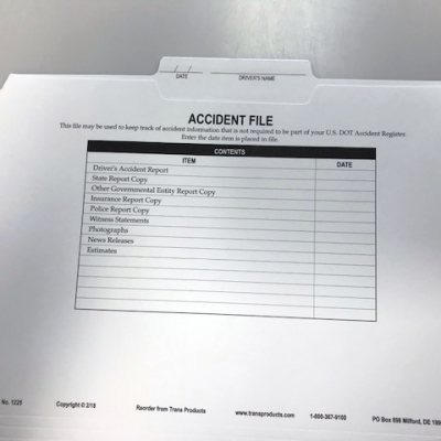 Accident File Folder - No. 1225
