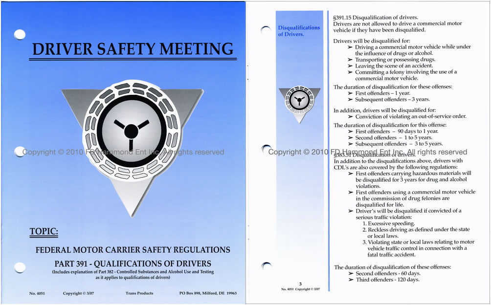 Section 391 of the federal motor carrier safety for Federal motor carrier regulations