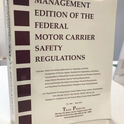 Management Edition of the Federal Motor Carrier Safety Regulations - # 1001