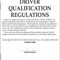 U.S. DOT Driver Qualification Regulations